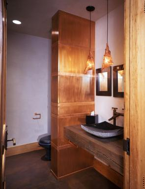 Mine-Bending Home Powder Room