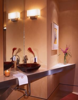 Angles & Curves Home Powder Room